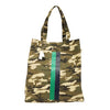Upright Bag in Green Camo with Navy/Green Stripe Wiggle + Scoot