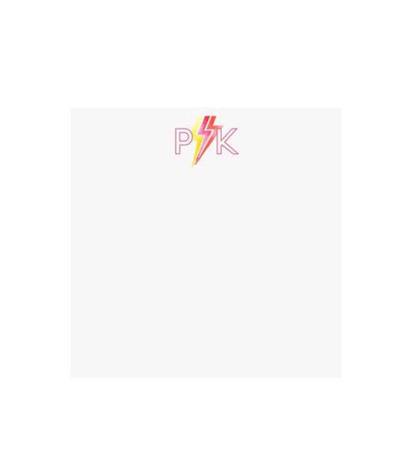 Bright Bolt Pink Initial Notepad