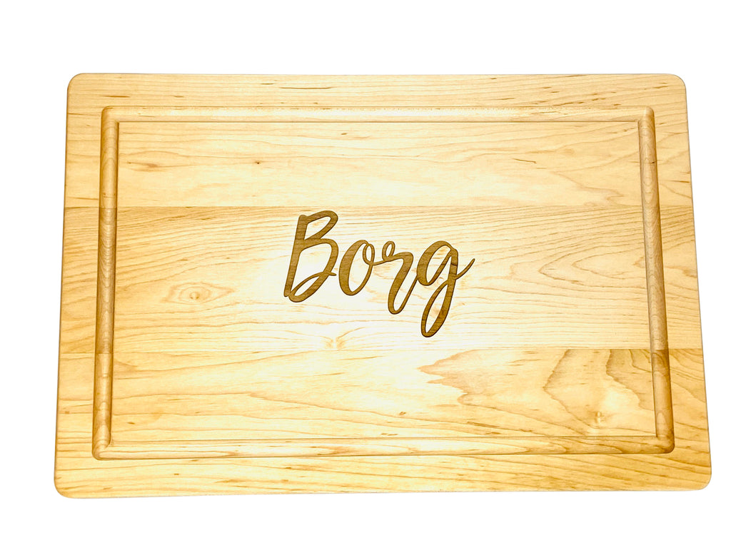 Script Personalized Cutting Board  (Start at $68. Lots of Sizes)