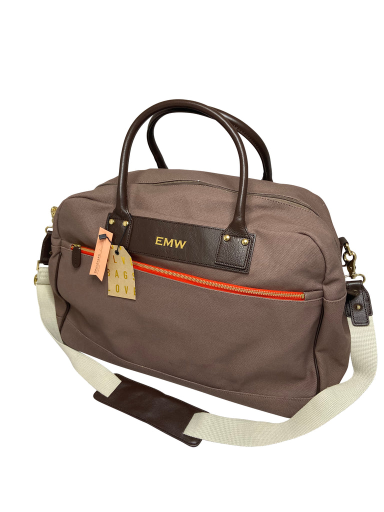 Charlie Overnight Duffle  by Boulevard Leather