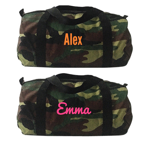 Medium Duffle - Green Camo
