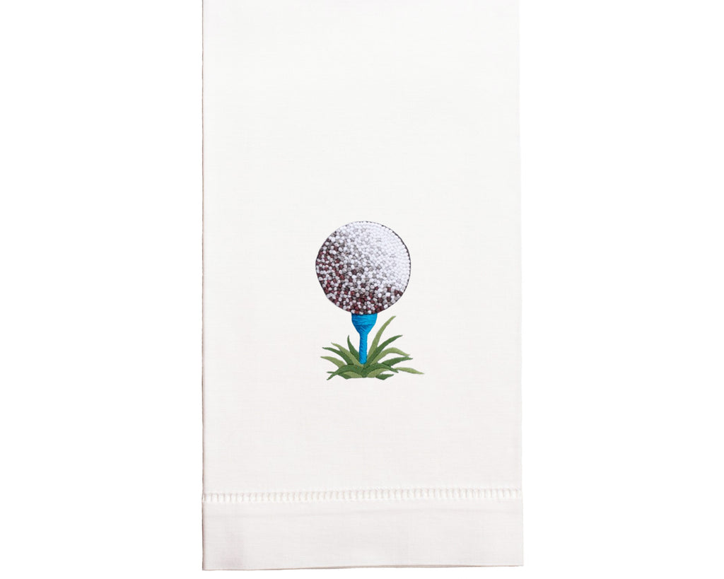 Hand Embroidered Golf Towel