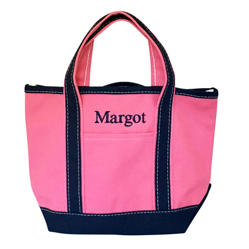 Small Boat Tote - Pink/ Navy