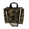 Luxe North South Bag in Green Camo with Black Glitter Monogram Stripe