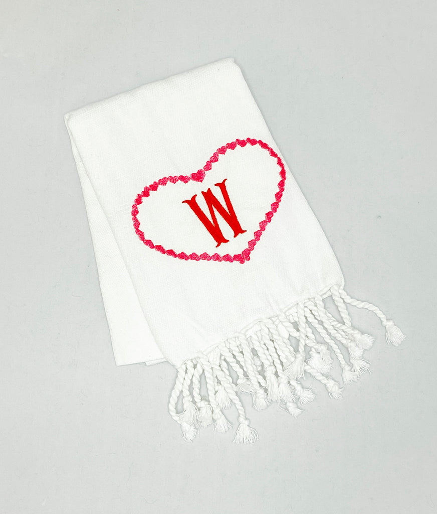 Turkish Towel with Heart Motif