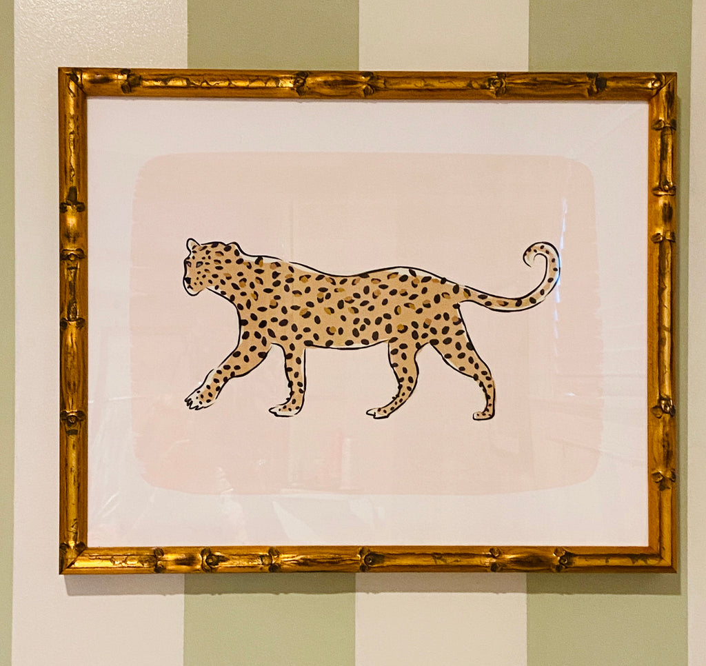 "Framed ""Leopard on the Prowl"" by Clairebella Studios"