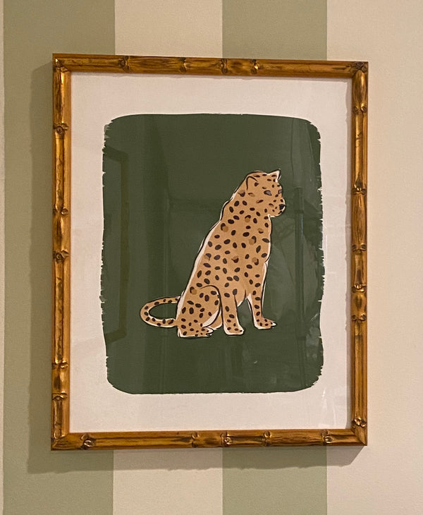 "Framed ""Leopard at Rest"" by Clairebella Studios"