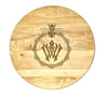 """Palm & Bamboo Design"" Monogrammed Cutting Board  (Start at $68. Lots of Sizes)"