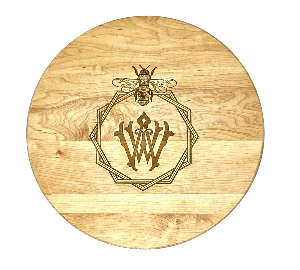 """Bee Design"" Monogrammed Cutting Board  (Start at $68. Lots of Sizes)"