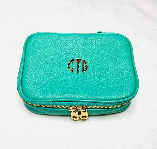 Gold Stamped Isabella Jewelry Case by Boulevard Leather