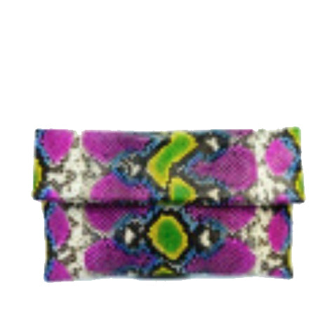 Pink Patterned Clutch - Wiggle + Scoot
