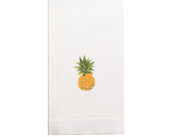Hand Embroidered Pineapple Towel