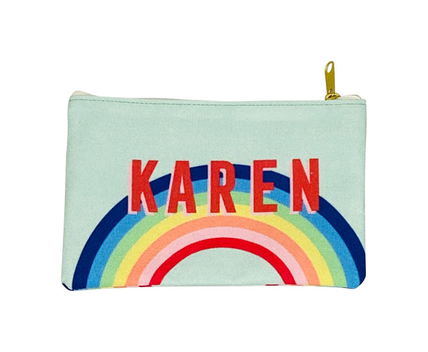 Rainbow Flat Zippered Clutches
