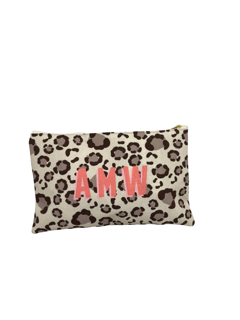 Tan Spots Flat Zippered Clutches by Clairebella
