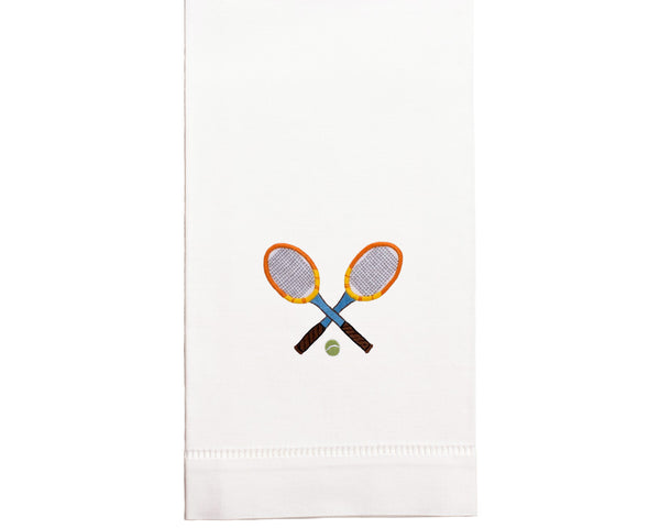 Hand Embroidered Tennis Towel