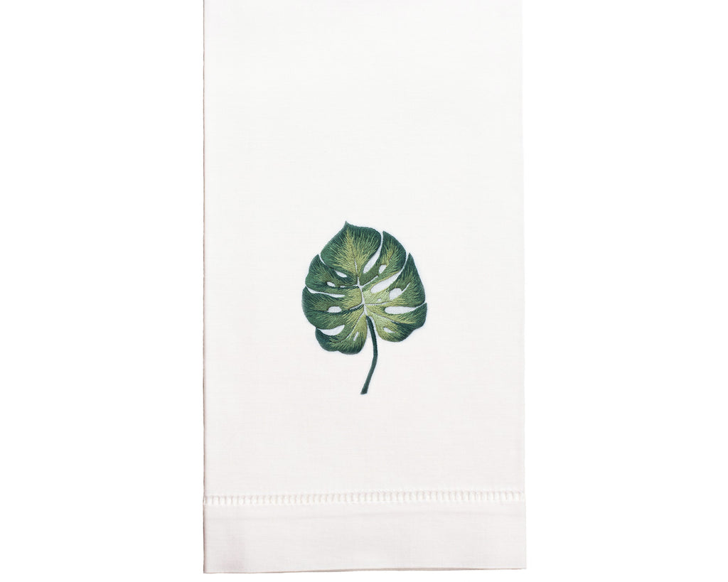 Hand Embroidered Palm Leaf Towel