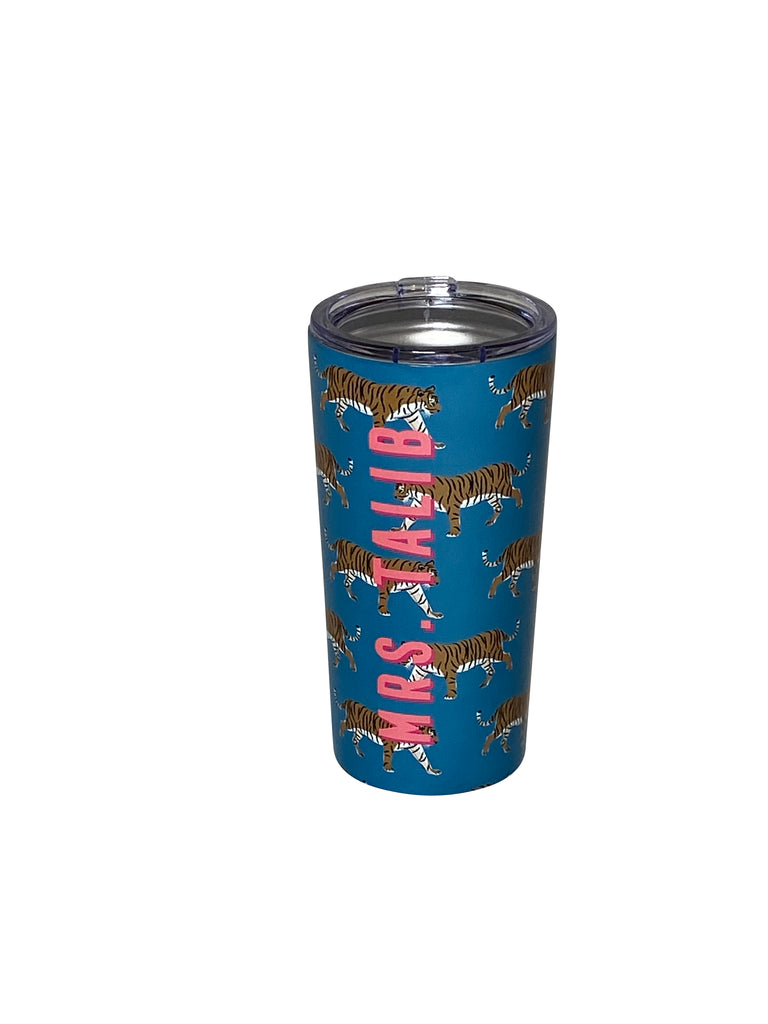 Turquoise Tiger Stainless Steel Tumbler by Clairebella