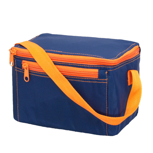 Dk Blue Lunchbox with Orange Trim
