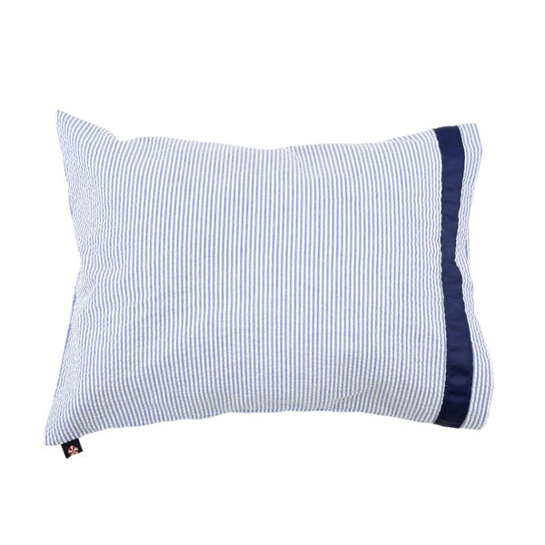 Seersucker Pillow with Trim