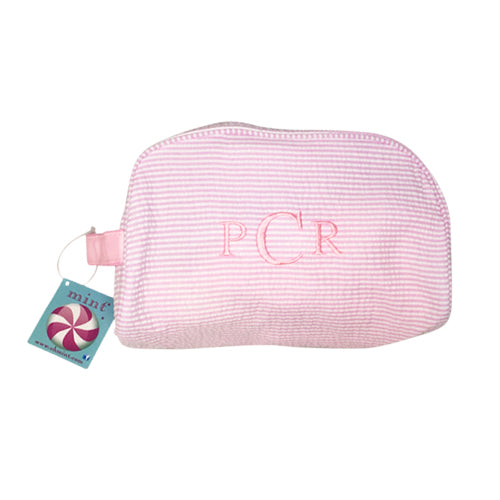 Traveler Dopp Kit - Pink Seersucker