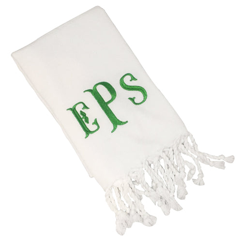 White Turkish Hand Towel