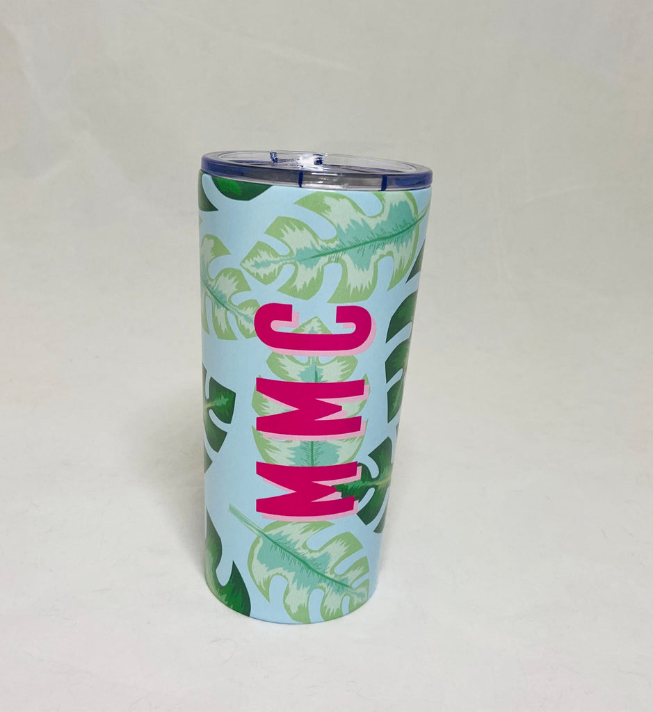 Palm Leaf Stainless Steel Tumbler by Clairebella