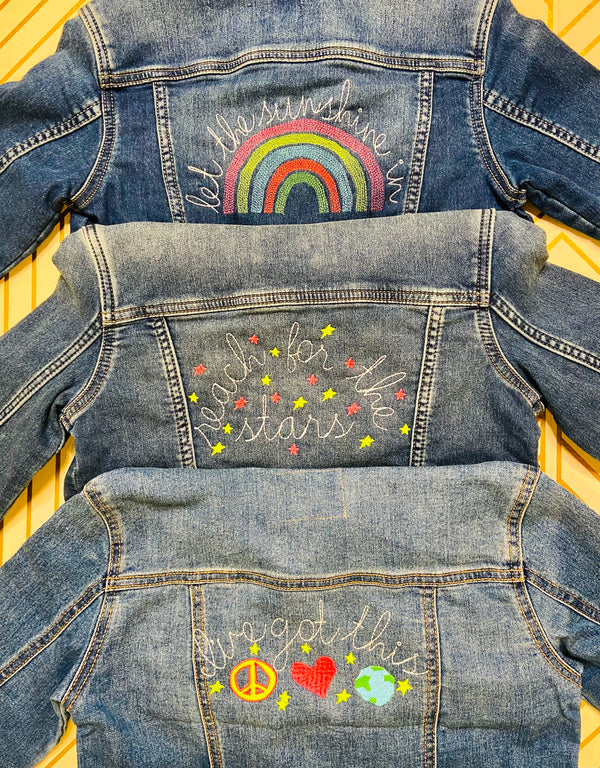 Embroidered Jean Jackets for Girls