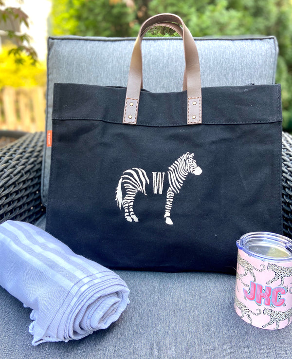 Advantage Tote with Zebra Monogram