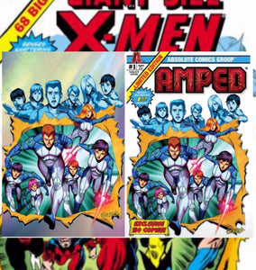 Amped #1 BTC exclusive Giant size X-Men homage set LTD 100