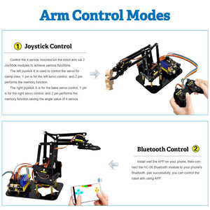 Acrylic Toys Robot Mechanical Arm Claw  - Kit for Arduino DIY Robot