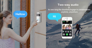 Smart Doorbell Camera - 720P Wifi Intercom Video-Eye for Apartment - Home Security