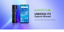 "Load image into Gallery viewer, Pre-sale UMIDIGI F2 Android 10 Global Version 6.53""FHD+6GB 128GB  Helio P70 Cellphone"