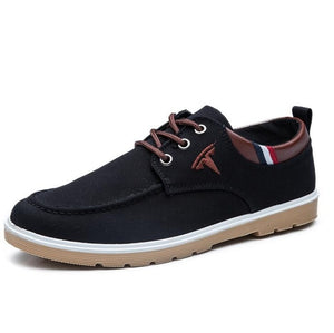 Spring & Autumn Sports Shoes - Casual Hiking Sneakers - Male Non-slip Running Quality Leather Shoes