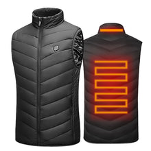 Load image into Gallery viewer, Winter Electrically Heated USB Sleeveless Vest - Outdoor Waistcoat for Travel, Hiking, Skiing.