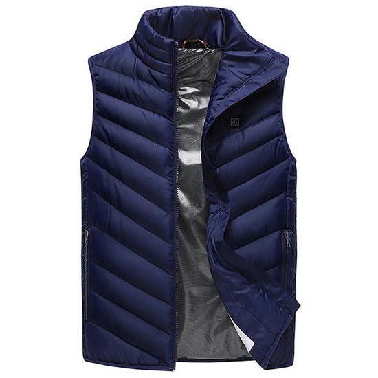 Winter Electrically Heated USB Sleeveless Vest - Outdoor Waistcoat for Travel, Hiking, Skiing.
