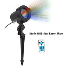 Load image into Gallery viewer, Christmas Laser Projector: Stars, Red Green Blue - Showers lights Outdoor. Static, Twinkle, remote
