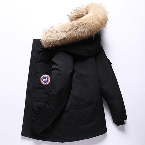 Winter Feather Men's down Jacket -Outdoor Workwear- Thick Warm Men's Winter Jacket
