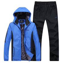 Load image into Gallery viewer, Winter Tracksuit with thick fleece Jacket+Pants - Two Piece - Fur Hood