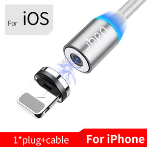 Udyr Fast Charging Mobile Phone USB Cable with Micro, iPhone, and USB-C connectors Fast Shipping