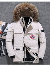 Load image into Gallery viewer, Extreme weather parkas Real fur jacket - men's goose jacket -40 Celsius Winter Down Coat