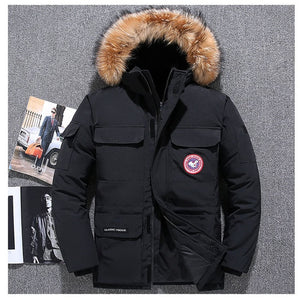 Extreme weather parkas Real fur jacket - men's goose jacket -40 Celsius Winter Down Coat