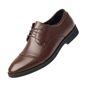 Luxury Business Oxford Leather Shoes - Breathable Rubber Formal Dress Shoes - Office, Wedding.