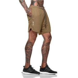 Summer Fitness Bodybuilding Breathable Quick-drying Jogger Shorts.
