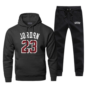 Jordan 23 Basketball - Sports Hoodie with Pants (2 Piece Track Suit) Autumn