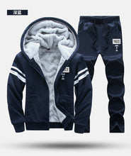Load image into Gallery viewer, Tracksuit with Fur Hood (Fleece) - 2PC Sportwear/Outwear - Jacket Coat/Pants