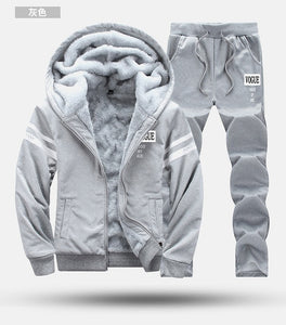 Tracksuit with Fur Hood (Fleece) - 2PC Sportwear/Outwear - Jacket Coat/Pants