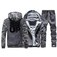 Load image into Gallery viewer, Tracksuit - Sport's Fleece Thick Hooded Clothing Casual - Warm Jacket+Pants