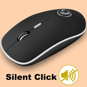 Silent Wireless Mouse - Ergonomic Optical Noiseless USB Mouse For PC Laptop, desktop, and gaming.