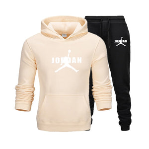 2020 Hot Brand New Men's Hooded Sweatshirt - Autumn / Winter - Pullover + sweatpants Two Piece Set