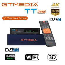 Load image into Gallery viewer, 100% Original 2019 New Arrival GTMEDIA V7 PLUS DVB-S2 DVB-T2 Satellite TV Combo Receiver Support H.265+Spain Italy Cam 5 Clines